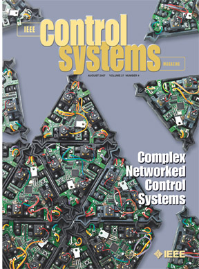 August issue cover of IEEE Control Systems