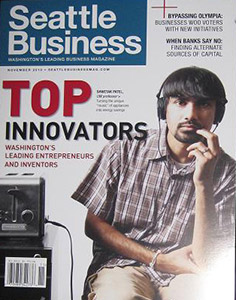 Shwetak Patel on cover of Seattle Business